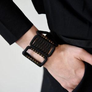 bracelet-ruban-olgajeanne-sophie-baillet-métal-noir-ruban