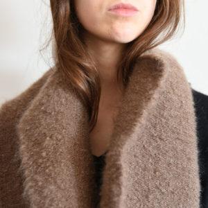 echarpe-tissage-laine-mohair-marron-agnes-dosmas-krier