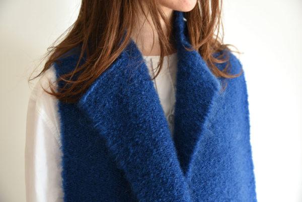 echarpe-tissage-laine-mohair-bleu-noir-agnes-dosmas-krier