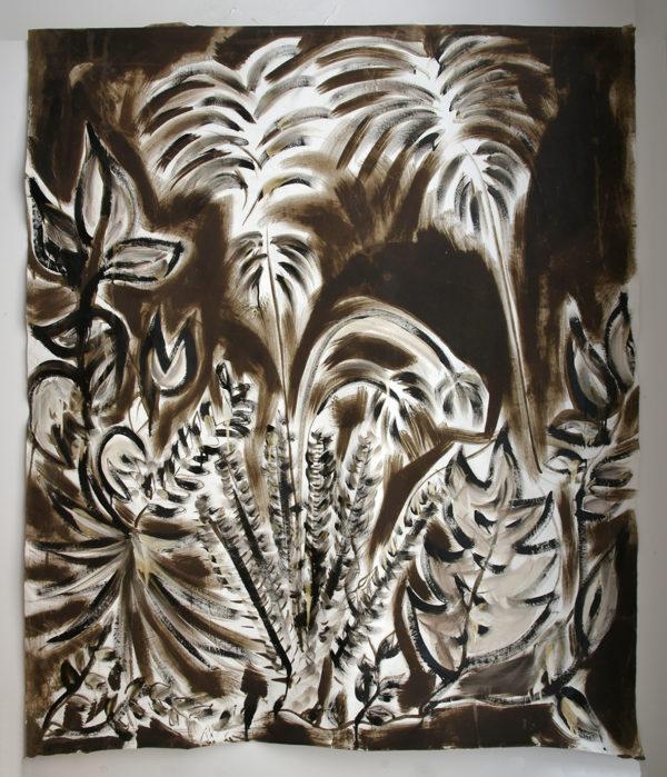 Panneau décoratif florales Anne Bacquié bitume de judée galerie boutique ouvrage aix en provence