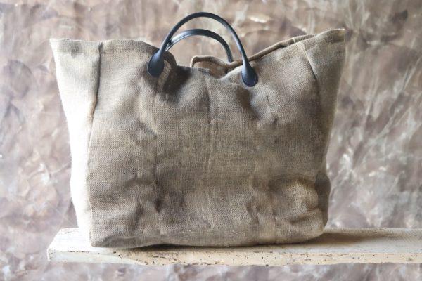 Cabas Anne Bacquié bitume de judée galerie boutique ouvrage aix en provence