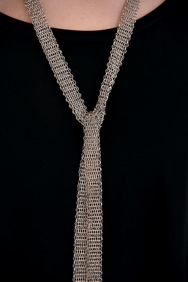 Ceinture Sautoir Pascale Lion bijoux contemporrains maille galerie boutique ouvrage aix en provence