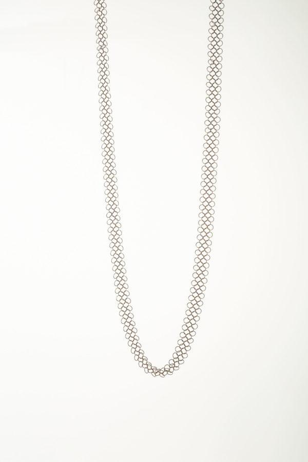 Collier 104 Pascale Lion bijoux contemporrains maille galerie boutique ouvrage aix en provence