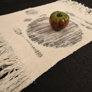 Sets de table tissés Agnès Dosmas Krier boutique ouvrage Aix en Provence