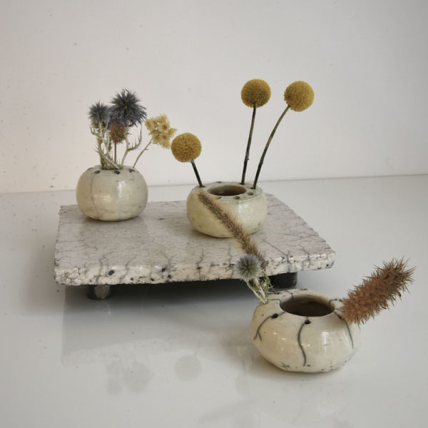 Galerie boutique ouvrage aix en provence Cecile daladier plateau pique-fleurs couronne