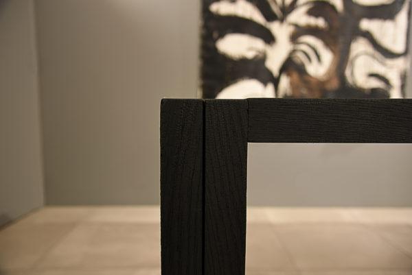 Table Bois brûlé Sébastien Krier wabisabi galerie boutique ouvrage aix en provence