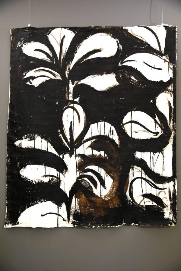 Panneau décoratif Anne Bacquié bitume de judée galerie boutique ouvrage aix en provence