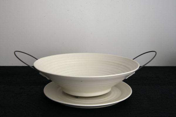 Assiette égouttoir Porcelaine Nathalie Audibert Céramique ouvrage boutique créateur