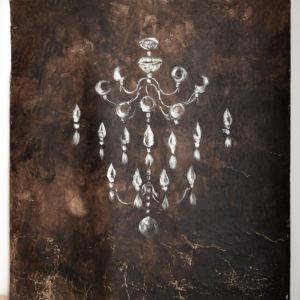 Panneau décoratif Lustre Anne Bacquié bitume de judée galerie boutique ouvrage aix en provence