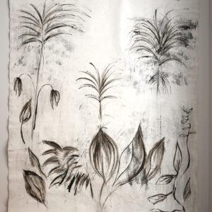 Panneau décoratif Monotype Anne Bacquié bitume de judée galerie boutique ouvrage aix en provence